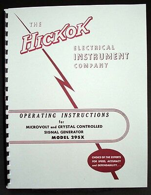 Hickok 295x Microvolt Crystal Controlled Signal Generator Manual