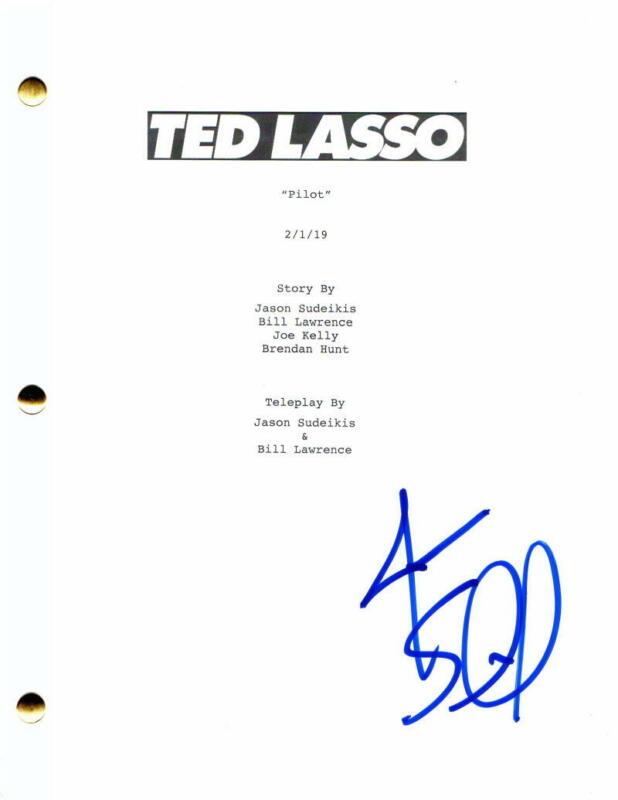 JASON SUDEIKIS SIGNED AUTOGRAPH TED LASSO PILOT SCRIPT - HORRIBLE BOSSES STAR