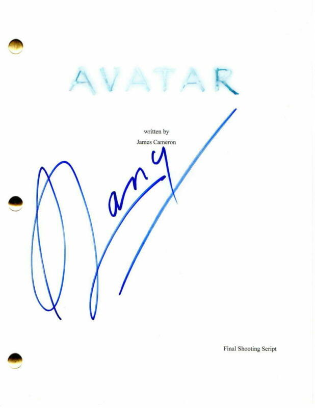 STEPHEN LANG SIGNED AUTOGRAPH - AVATAR MOVIE SCRIPT - JAMES CAMERON, ZOE SALDANA