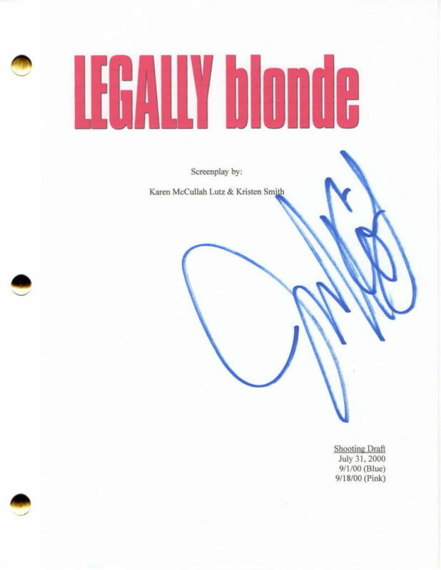 JENNIFER COOLIDGE SIGNED AUTOGRAPH - LEGALLY BLONDE FULL MOVIE SCRIPT - REESE