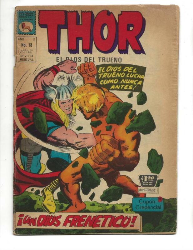 Thor #18 1970  Spanish Early Warlock App!