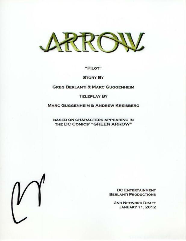PAUL BLACKTHORNE SIGNED AUTOGRAPH - ARROW FULL PILOT SCRIPT - STEPHEN AMELL
