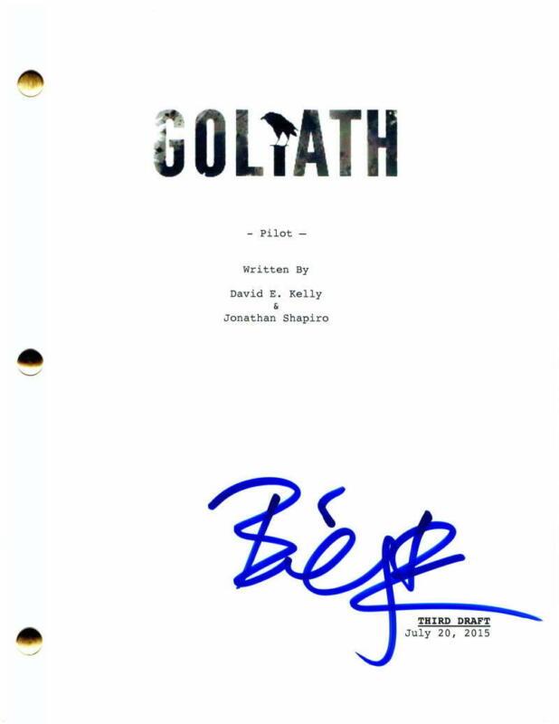 BILLY BOB THORNTON SIGNED AUTOGRAPH GOLIATH PILOT SCRIPT - SLING BLADE, FARGO