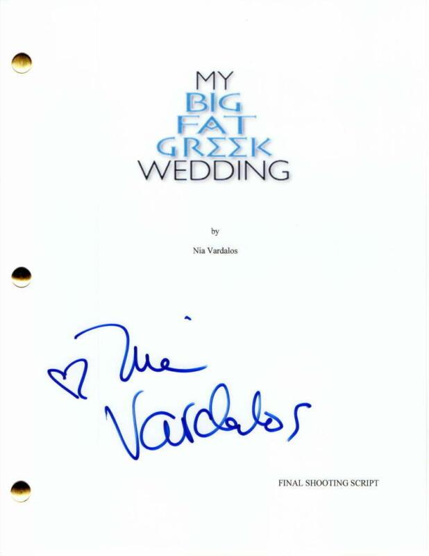 NIA VARDALOS SIGNED AUTOGRAPH - MY BIG FAT GREEK WEDDING FULL MOVIE SCRIPT