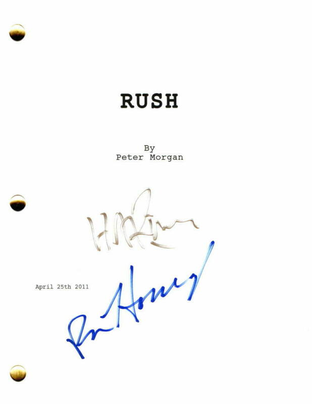 RON HOWARD & HANS ZIMMER SIGNED AUTOGRAPH - RUSH MOVIE SCRIPT - CHRIS HEMSWORTH
