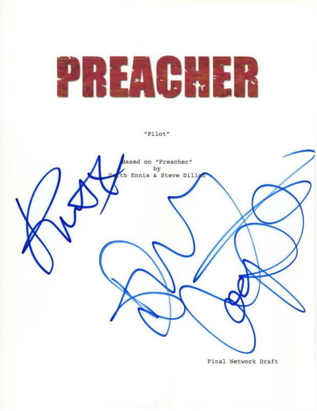 DOMINIC COOPER & RUTH NEGGA SIGNED AUTOGRAPH - PREACHER FULL PILOT SCRIPT