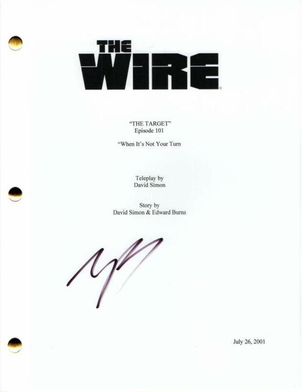 MICHAEL B JORDAN SIGNED AUTOGRAPH - THE WIRE PILOT SCRIPT - DOMINIC WEST, CREED