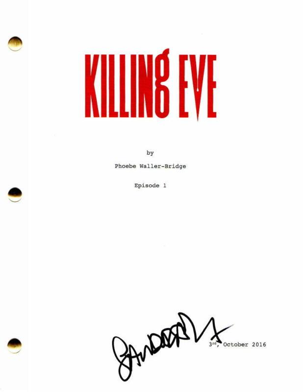 SANDRA OH SIGNED AUTOGRAPH - KILLING EVE PILOT SCRIPT GREY'S ANATOMY JODIE COMER