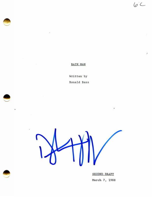 DUSTIN HOFFMAN SIGNED AUTOGRAPH - RAIN MAN MOVIE SCRIPT - TOM CRUISE BONNIE HUNT