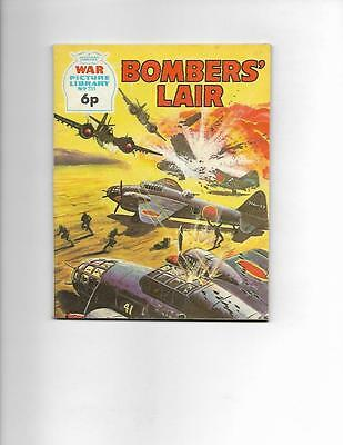 "War Picture Library No 731 1972  British- Bombers"" Lair!"