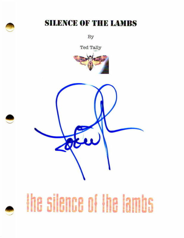 JODIE FOSTER SIGNED AUTOGRAPH - SILENCE OF THE LAMBS SCRIPT - ANTHONY HOPKINS