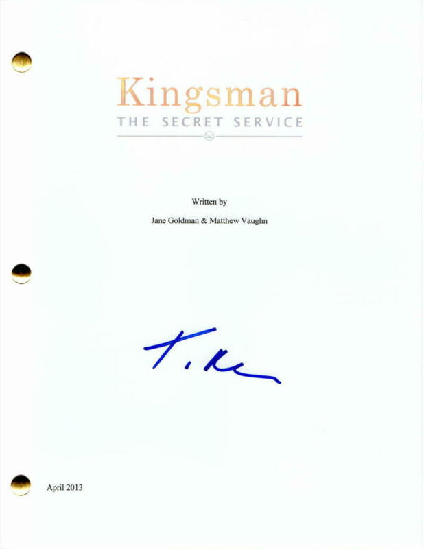 TARON EGERTON SIGNED AUTOGRAPH - KINGSMAN: THE SECRET SERVICE FULL MOVIE SCRIPT