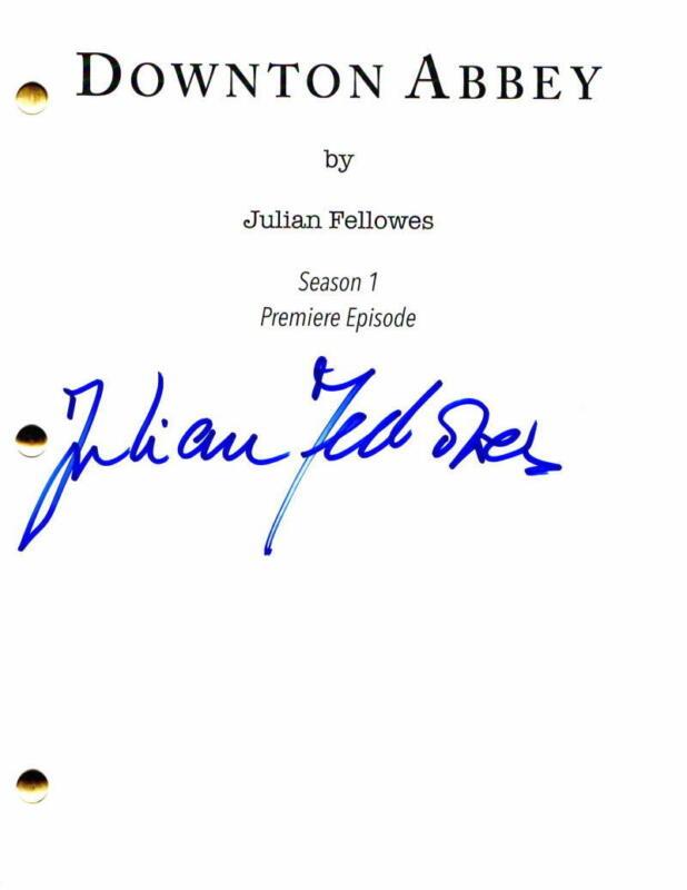JULIAN FELLOWES SIGNED AUTOGRAPH - DOWNTON ABBEY FULL PILOT SCRIPT -MAGGIE SMITH