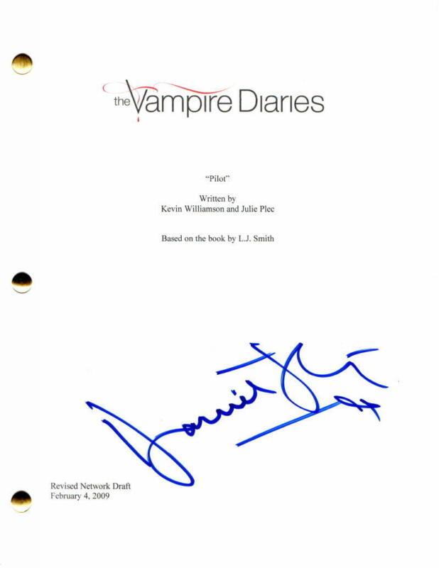 DANIEL GILLIES SIGNED AUTOGRAPH - THE VAMPIRE DIARIES PILOT SCRIPT - NINA DOBREV