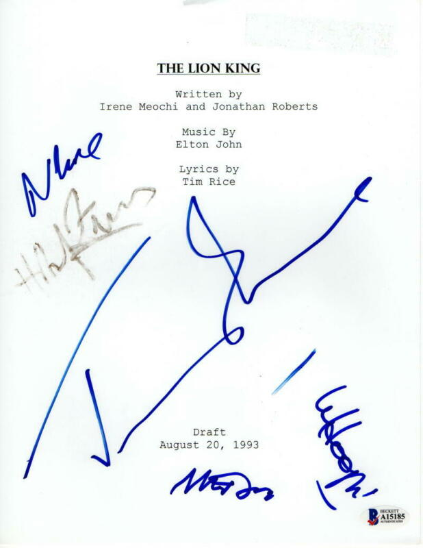 JEREMY IRONS, NATHAN LANE +CAST (X5) SIGNED AUTOGRAPH THE LION KING MOVIE SCRIPT