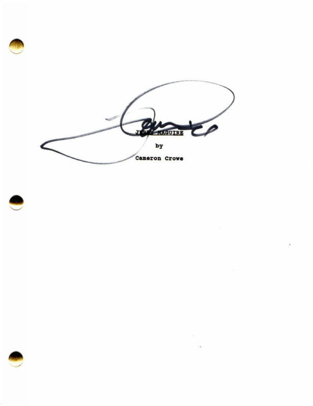 TOM CRUISE SIGNED AUTOGRAPH JERRY MAGUIRE FULL MOVIE SCRIPT - TOP GUN, VERY RARE