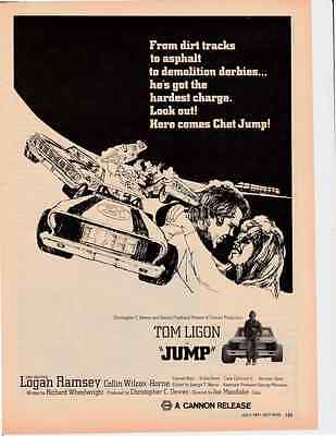 "1971 ""JUMP"" MOVIE ~ TOM LIGON ~ GREAT ORIGINAL MAGAZINE POSTER / PICTURE / AD"