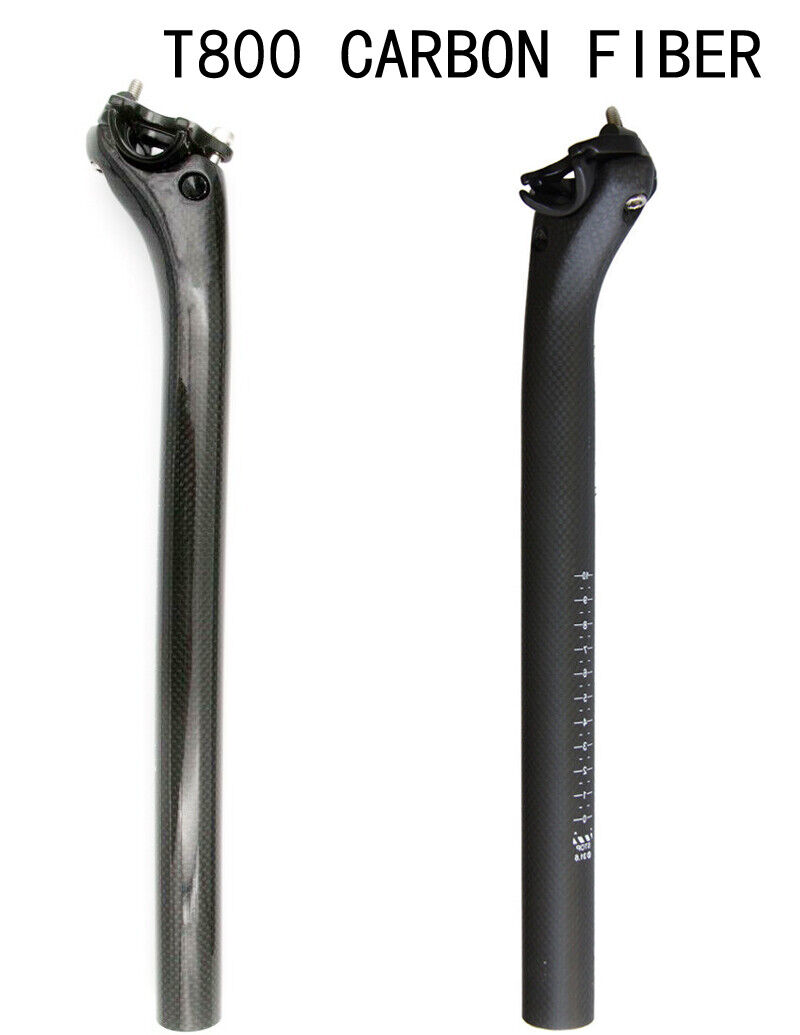 Black 27.2//30.8//31.6mm Full Carbon Fiber Bike MTB Cycling Road Bicycle Seatpost