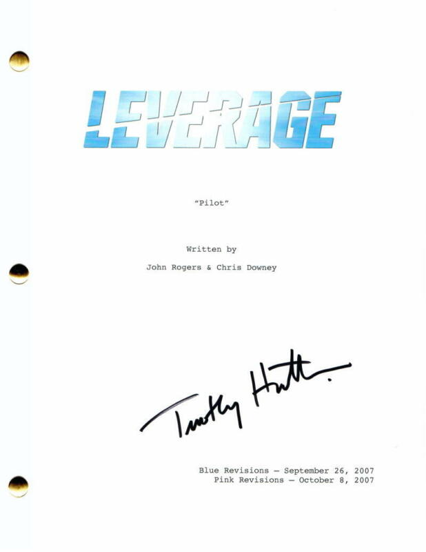 TIMOTHY HUTTON SIGNED AUTOGRAPH LEVERAGE FULL PILOT SCRIPT - ORDINARY PEOPLE
