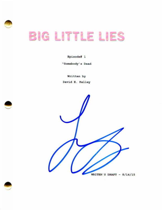 LAURA DERN SIGNED AUTOGRAPH - BIG LITTLE LIES FULL PILOT SCRIPT - NICOLE KIDMAN