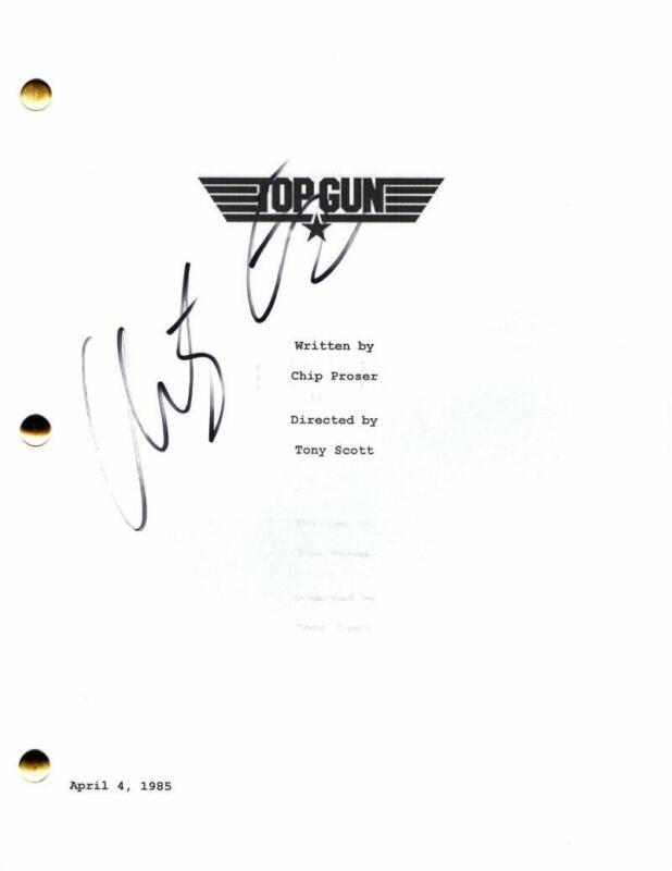 ANTHONY EDWARDS SIGNED AUTOGRAPH - TOP GUN MOVIE SCRIPT - TOM CRUISE, VAL KILMER