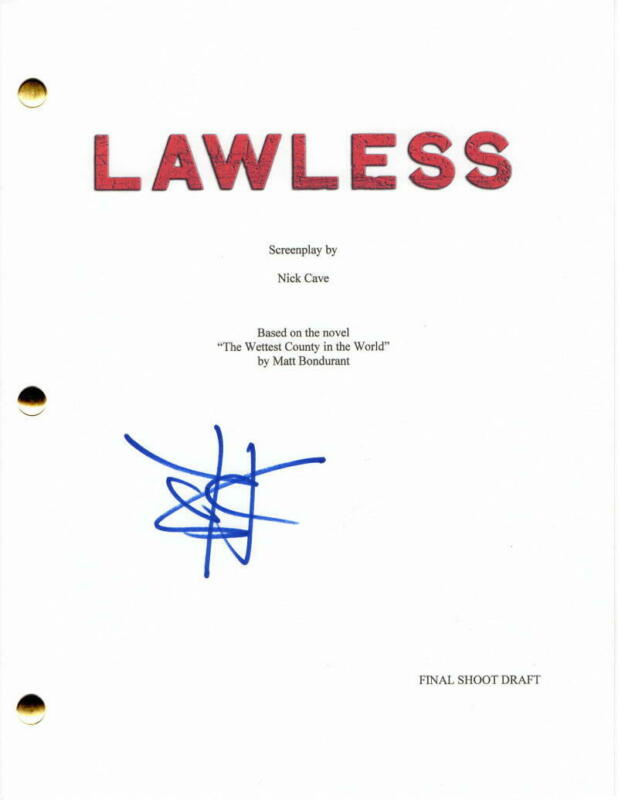 SHIA LABEOUF SIGNED AUTOGRAPH - LAWLESS MOVIE SCRIPT - TOM HARDY, GUY PEARCE