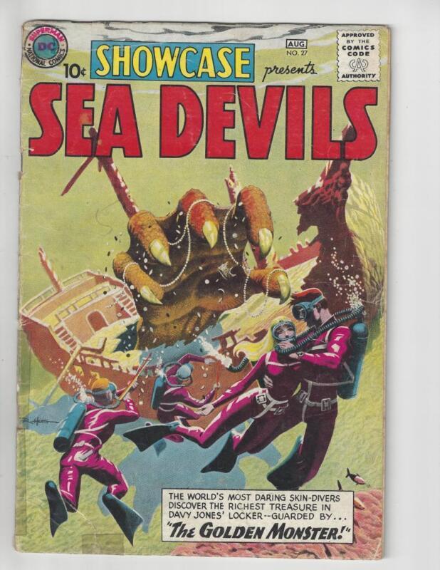 Showcase #27/Silver Age DC Comic Book/1st Sea Devils/GD+