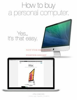 APPLE IMAC COMPUTER VINTAGE POSTER ADVERTISING PROMO REPRINT |24 by 36 inch|