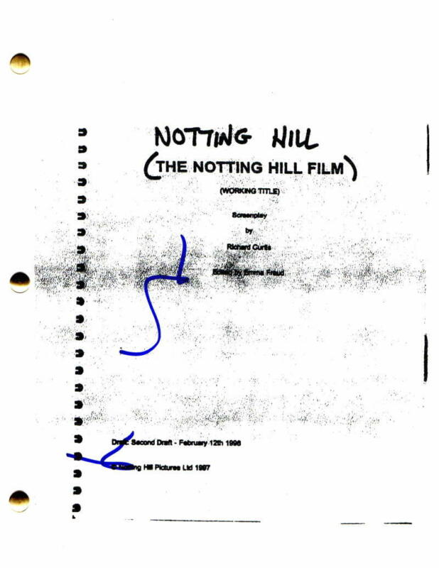 HUGH GRANT SIGNED AUTOGRAPH - NOTTING HILL FULL MOVIE SCRIPT - JULIA ROBERTS