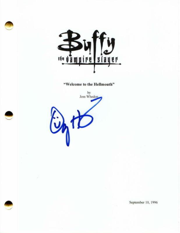 ALYSON HANNIGAN SIGNED AUTOGRAPH - BUFFY THE VAMPIRE SLAYER FULL PILOT SCRIPT