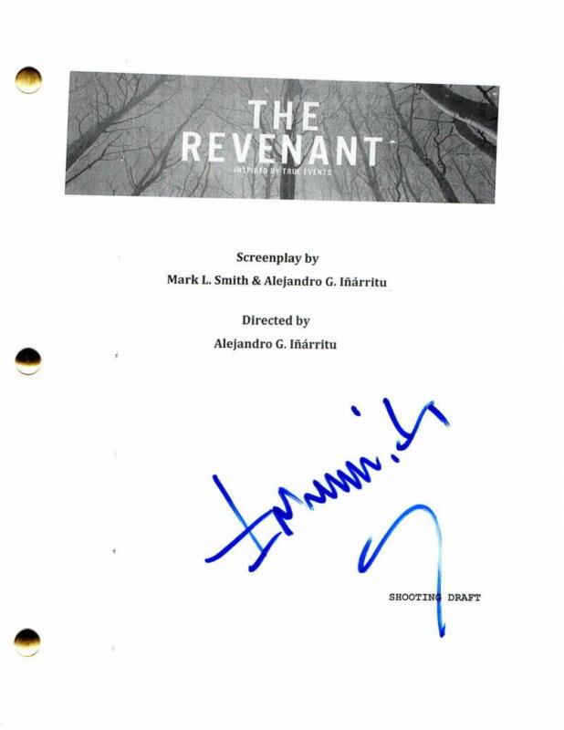 ALEJANDRO INARRITU SIGNED AUTOGRAPH -THE REVENANT MOVIE SCRIPT LEONARDO DICAPRIO