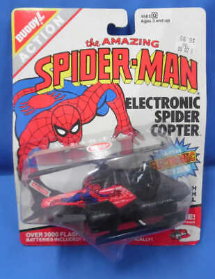 Amazing Spider-Man Electronic Spider Copter Buddy L New Sealed 1990