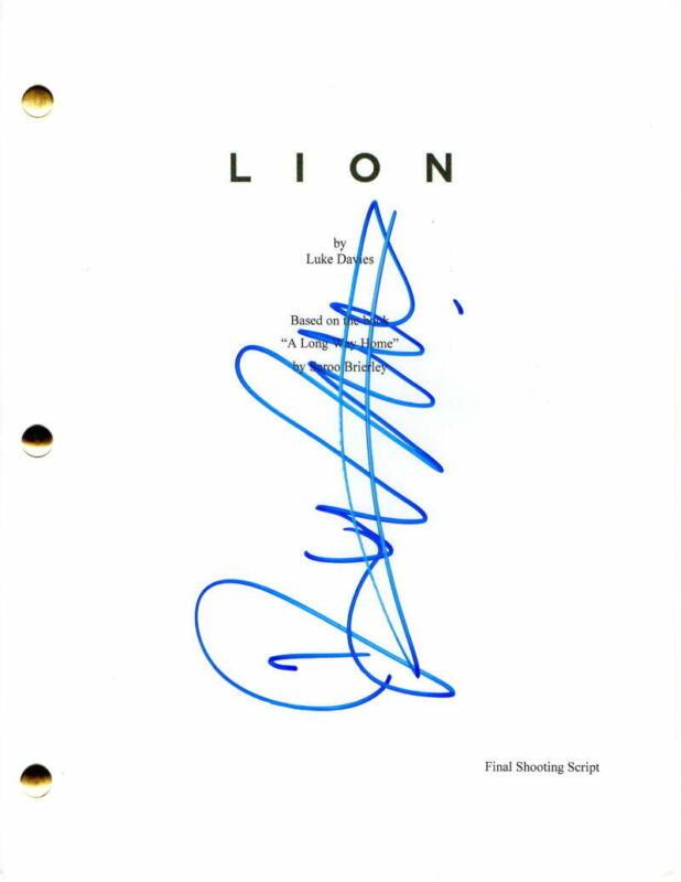 DEV PATEL SIGNED AUTOGRAPH - LION FULL MOVIE SCRIPT - NICOLE KIDMAN, ROONEY MARA