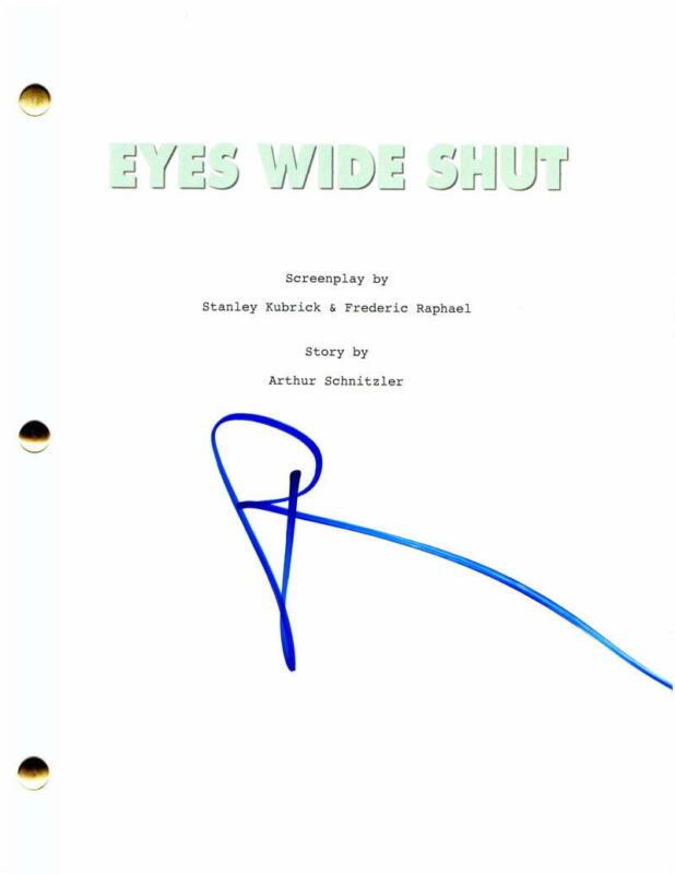 NICOLE KIDMAN SIGNED AUTOGRAPH EYES WIDE SHUT FULL MOVIE SCRIPT STANLEY KUBRICK