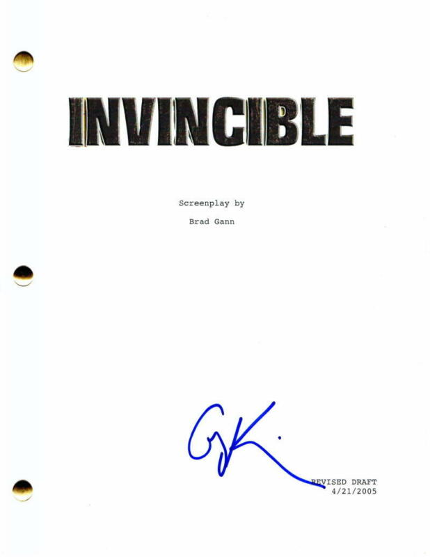 "GREG KINNEAR SIGNED AUTOGRAPH ""INVINCIBLE"" FULL MOVIE SCRIPT - W/ MARK WAHLBERG"