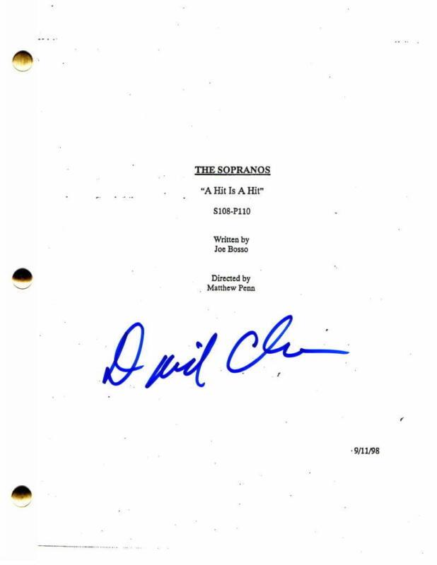 DAVID CHASE SIGNED AUTOGRAPH - THE SOPRANOS FULL EPISODE SCRIPT JAMES GANDOLFINI