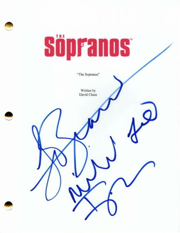 JAMIE-LYNN SIGLER, LORRAINE BRACCO +1 SIGNED AUTOGRAPH THE SOPRANOS PILOT SCRIPT