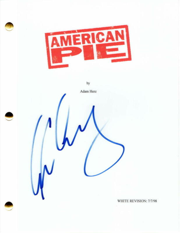 EUGENE LEVY SIGNED AUTOGRAPH - AMERICAN PIE FULL MOVIE SCRIPT - SCHITT'S CREEK