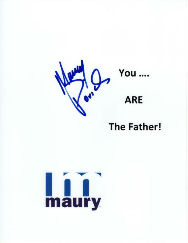 """MAURY POVICH SIGNED AUTOGRAPH """"YOU ARE THE FATHER"""" DISPLAY - SHOW, GAG GIFT"""