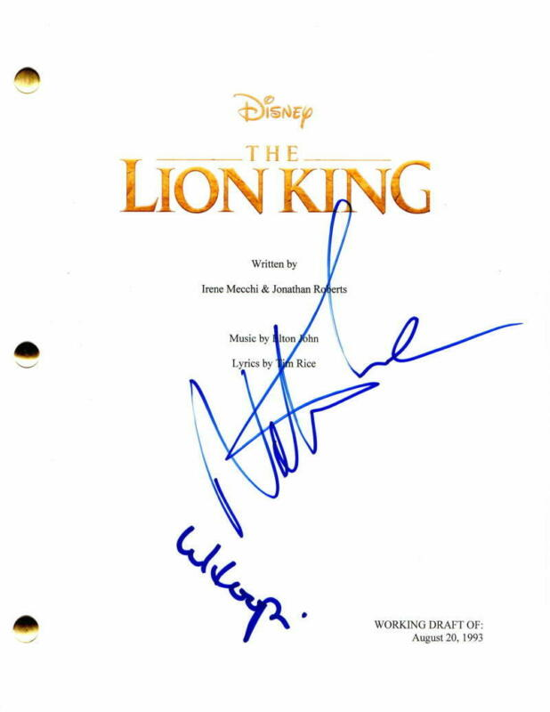 WHOOPI GOLDBERG & NATHAN LANE SIGNED AUTOGRAPH - THE LION KING FULL MOVIE SCRIPT