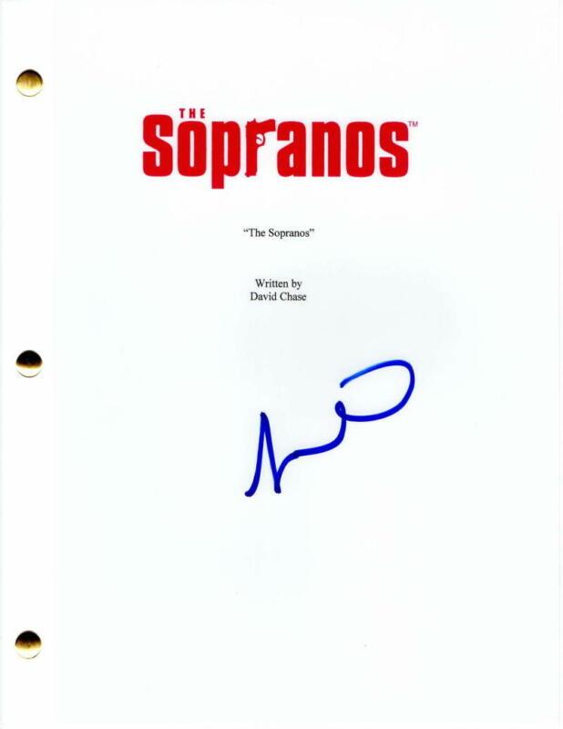 JAMIE-LYNN SIGLER SIGNED AUTOGRAPH - THE SOPRANOS PILOT SCRIPT, JAMES GANDOLFINI