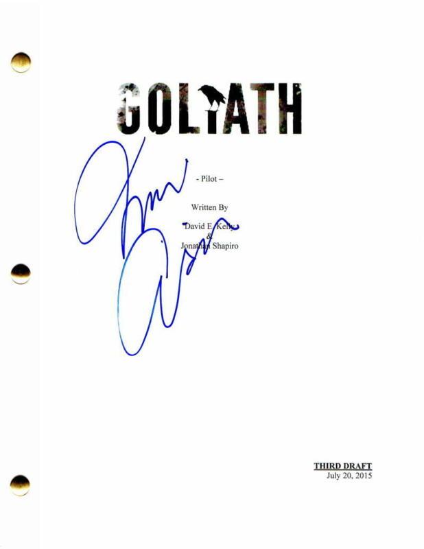 NINA ARIANDA SIGNED AUTOGRAPH - GOLIATH FULL PILOT SCRIPT - BILLY BOB THORNTON