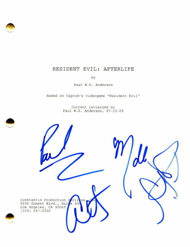 MILLA JOVOVICH +2 CAST SIGNED AUTOGRAPH - RESIDENT EVIL: AFTERLIFE MOVIE SCRIPT