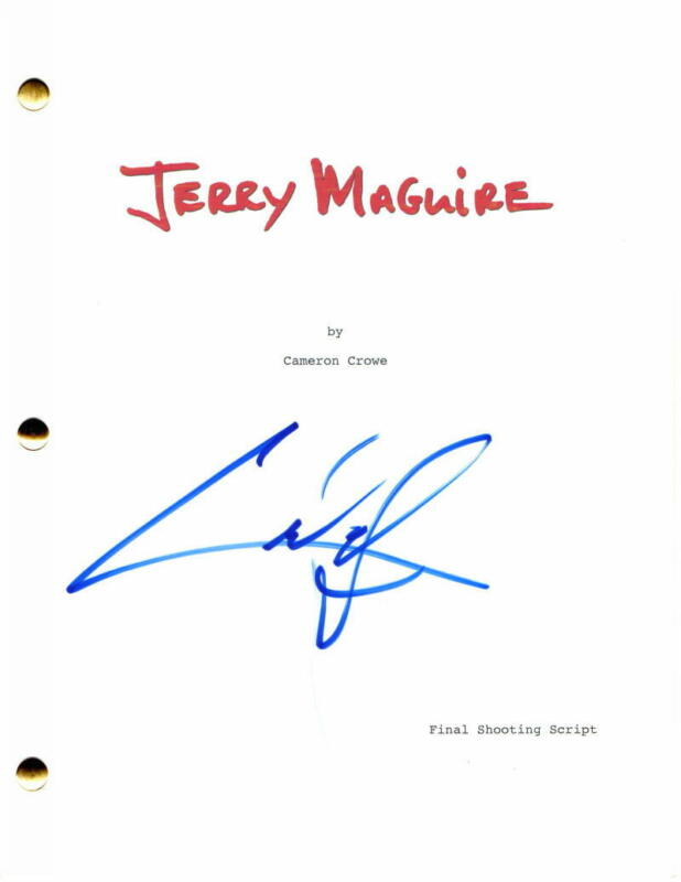 CUBA GOODING JR SIGNED AUTOGRAPH JERRY MAGUIRE FULL MOVIE SCRIPT - TOM CRUISE