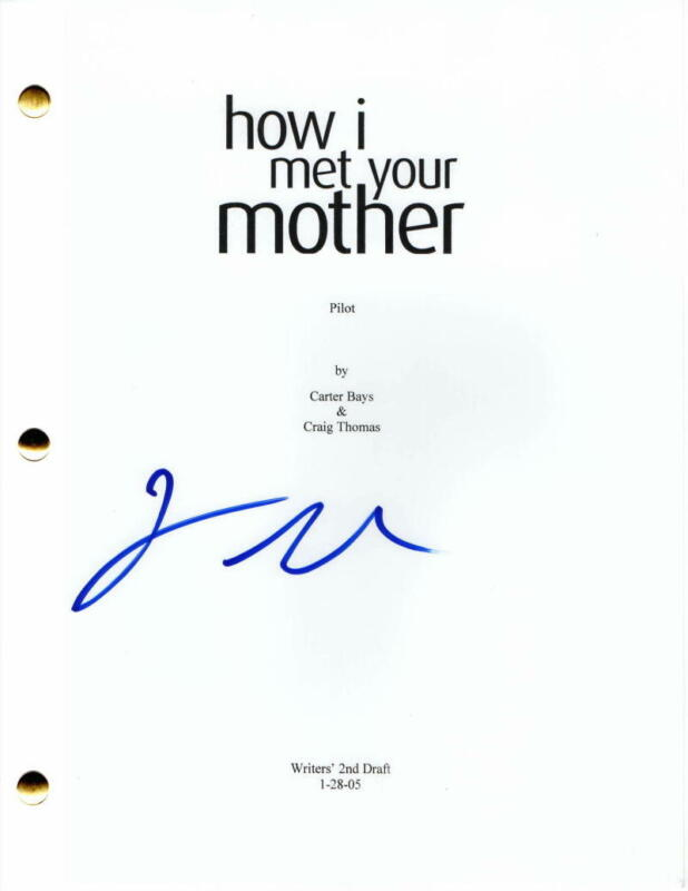 JASON SEGEL SIGNED AUTOGRAPH - HOW I MET YOUR MOTHER FULL PILOT SCRIPT