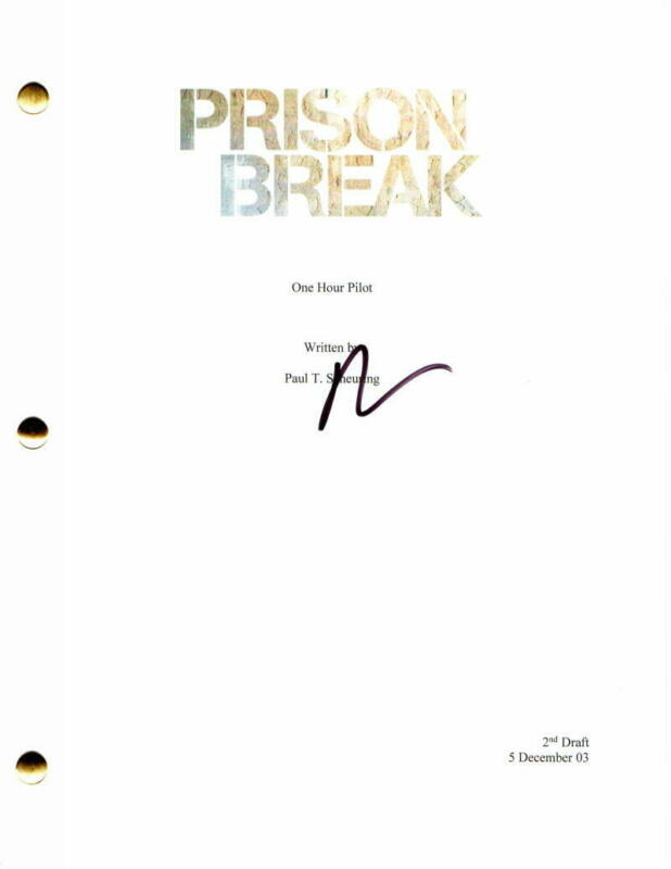 DOMINIC PURCELL SIGNED AUTOGRAPH - PRISON BREAK PILOT SCRIPT - WENTWORTH MILLER