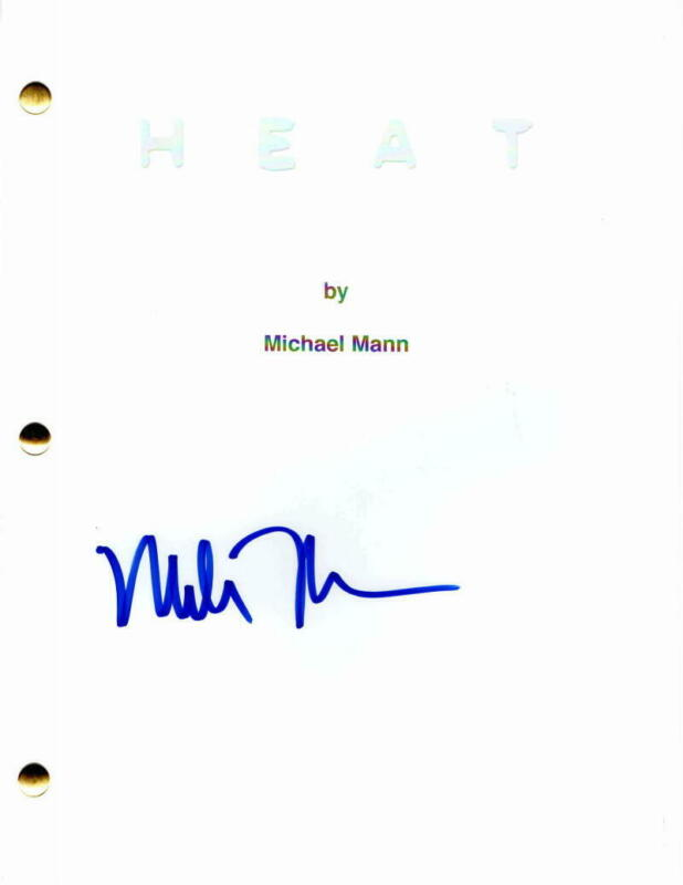 MICHAEL MANN SIGNED AUTOGRAPH - HEAT FULL MOVIE SCRIPT - AL PACINO ROBERT DENIRO
