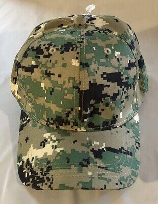 Green Digital Camo Ball Cap US Navy NWU Type III Style LHA DDG CVN SSN Vet Hat (Ball Cap Navy)