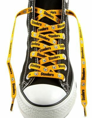Pittsburgh Steelers Gold Shoe Laces Strings NFL Team Colors 54