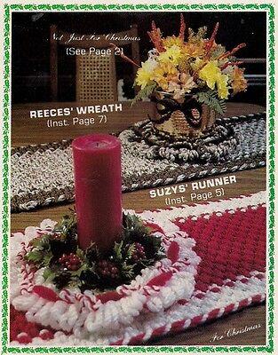 Tisch Läufer W Mittelstück Muster #1905 Knoten nur für Weihnachten Makramee ()